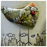 ceramic bowls with birds